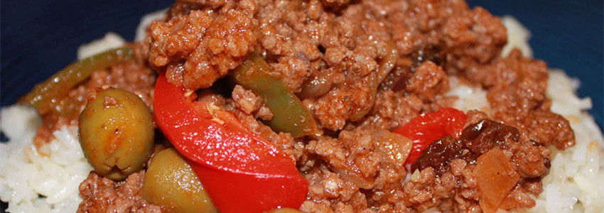 Picadillo made with Papa Georges Reduced Fat Pork Sausage